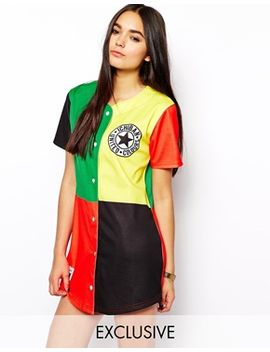 ichiban-baseball-jersey-dress-with-color-block-festival-print by ichiban