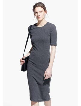 fitted-jersey-dress by mango