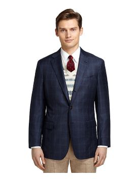 regent-fit-navy-plaid-with-teal-windowpane-sport-coat by brooks-brothers