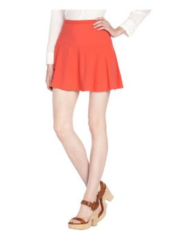poppy-strecth-lucy-a-line-mini-skirt by bcbgmaxazria
