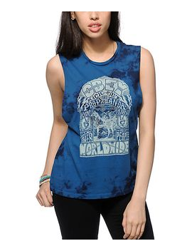 obey-peace-horse-tie-dye-muscle-tank-top by obey