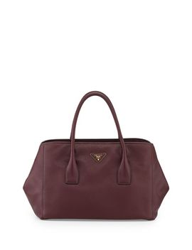 vitello-daino-garden-tote-bag,-bordeaux-(granato) by prada