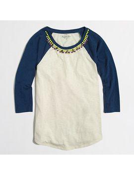 jeweled-baseball-t-shirt by jcrew