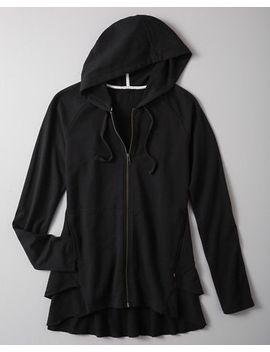 zinni-by-garnet-hill-zip-front-peplum-sweatshirt by garnet-hill