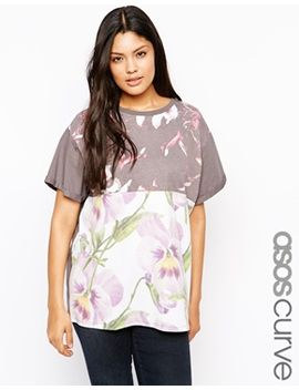 asos-curve-t-shirt-with-patchwork-floral by asos-curve
