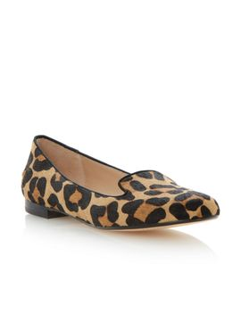 limbo-pony-almond-toe-block-heel-loafer-shoes by dune