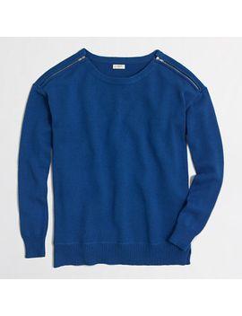 zip-shoulder-sweater by jcrew