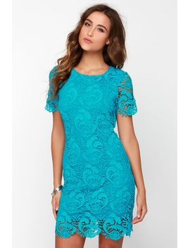 black-swan-francesca-aqua-blue-lace-dress by black-swan