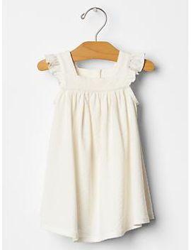 organic-pointelle-flutter-dress by gap
