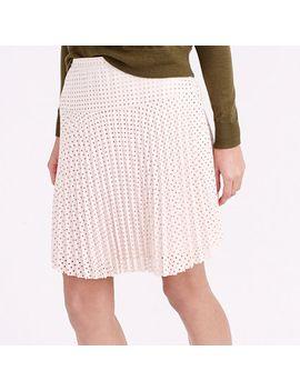 laser-cut-pleated-skirt by jcrew