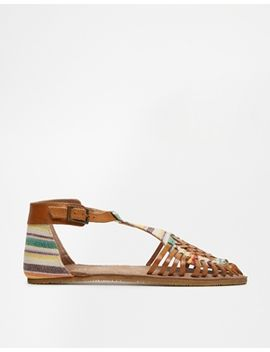 bronx-woven-tbar-flat-shoes by bronx