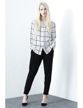 window-pane-check-blouse by warehouse