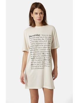 duvet-day-sleep-tee by topshop