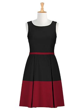 retro-style-colorblock-dress by eshakti