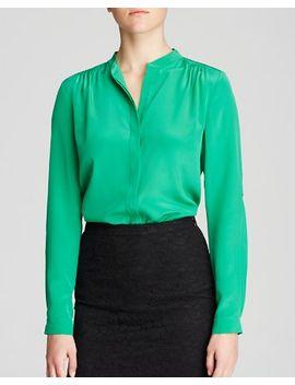 diane-von-furstenberg-blouse by gilmore-silk