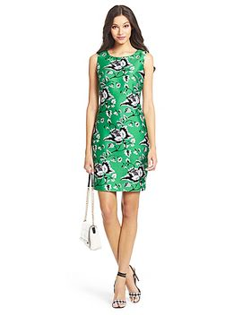 dvf-sofia-silk-wool-shift-dress by dvf