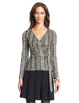 dvf-behati-metallic-knit-wrap-top by dvf