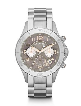 stainless-steel-chronograph-watch by marc-by-marc-jacobs
