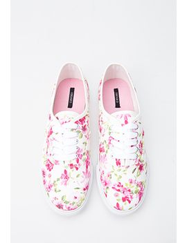 floral-print-plimsolls by forever-21