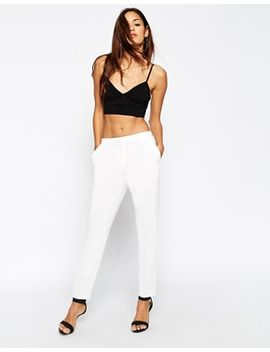 asos-cigarette-trousers-in-crepe by asos-collection