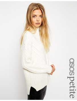 asos-petite-cable-jumper-with-high-neck by asos-petite