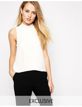 closet-waffle-roll-neck-top-with-dip-back by closet