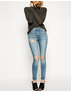 asos-ridley-skinny-ankle-grazer-jeans-in-tyler-wash-with-busted-rips by asos-collection