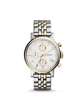 original-boyfriend-chronograph-two-tone-stainless-steel-watch by fossil