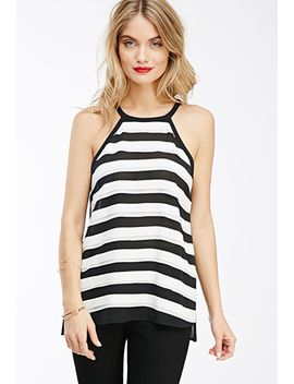 striped-chiffon-top by forever-21