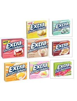 extra-desserts-chewing-gum-4-pack-mix-(combinations-may-vary) by wrigleys-extra-dessert-delights-gum