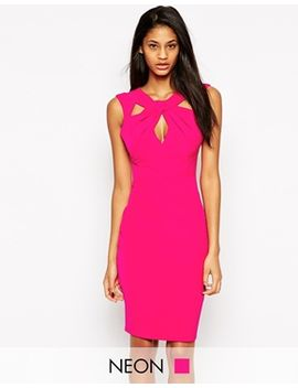 lipsy-knot-front-pencil-dress by lipsy