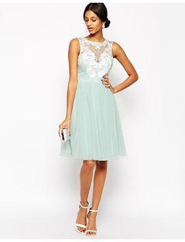 lipsy-vip-laser-cut-midi-prom-dress-with-full-skirt by lipsy