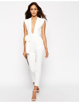 asos-plunge-front-tailored-jumpsuit by asos-collection