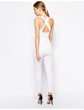 asos-jumpsuit-in-scuba-with-plunge-and-cross-back by asos-collection