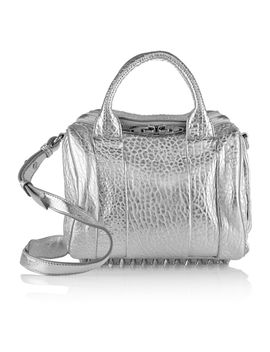 the-outnetrockie-metallic-textured-leather-shoulder-bag by alexander-wang