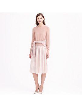 metallic-pleated-midi-skirt by jcrew
