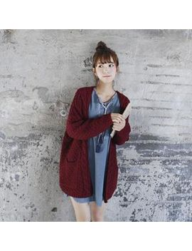 open-front-cable-knit-cardigan by goroke