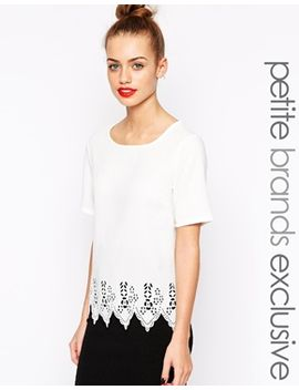 new-look-petite-laser-cut-woven-top by new-look-petite