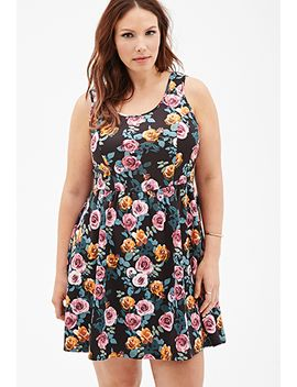 rose-print-a-line-dress by forever-21