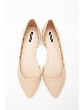 pointed-cutout-side-flats by forever-21