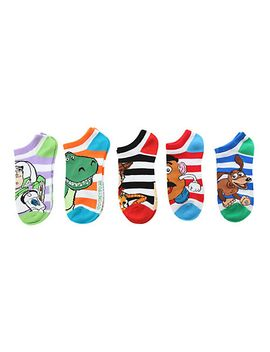disney-toy-story-striped-no-show-socks-5-pair by hot-topic