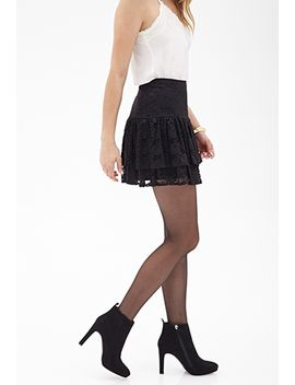 fluted-lace-mini-skirt by forever-21