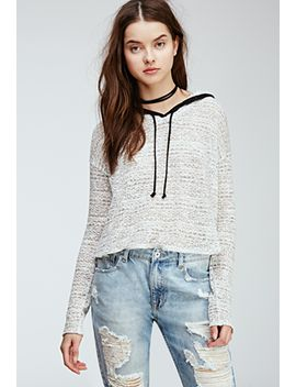 loose-knit-hooded-pullover by forever-21