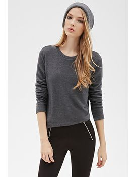 brushed-knit-heathered-pullover by forever-21
