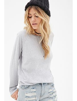 heathered-raglan-sweatshirt by forever-21