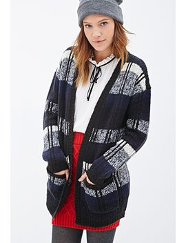 open-front-multi-stripe-cardigan by forever-21