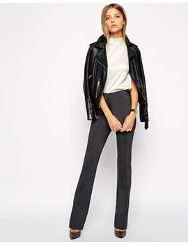 asos-flare-trousers-with-pintuck by asos-collection