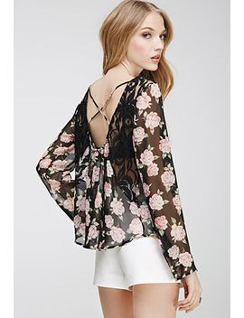 crisscross-back-rose-print-top by forever-21