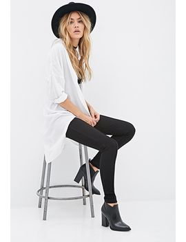 creased-front-leggings by forever-21