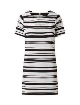 black-lightweight-stripe-print-tunic-dress by new-look